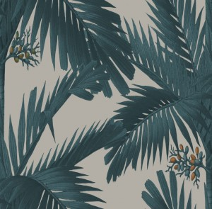 Tapeta Rebel Walls Oddity Palm Spring, Teal R17571