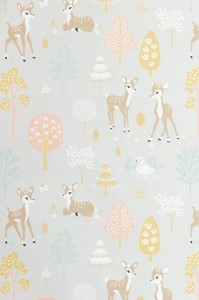 Tapeta Majvillan Golden Woods 125-01 Soft Grey