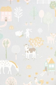 Tapeta Majvillan My Farm 127-01 Soft Grey