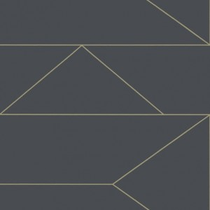 Tapeta Ferm LIVING - Lines Wallpaper - Graphite 100372723 Linie