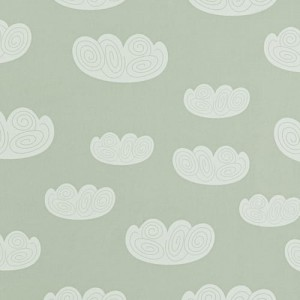 Tapeta Chmurki Ferm LIVING Cloud Wallpaper - Mint 520 Chmurki