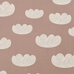Tapeta Chmurki Ferm LIVING Cloud Wallpaper - Rose 521 Chmurki