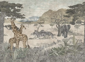 Mural Boras Tapeter Wild Animals 1194 Serengeti