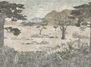 Mural Boras Tapeter Wild Animals 1195 Serengeti Savannah